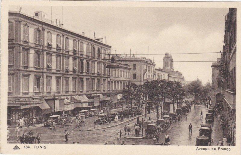 Tunisia Tunis Avenue de France sk1961a