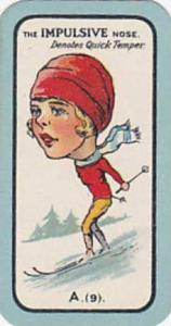 Carreras Small Vintage Cigarette Card The Nose Game No A9 The Impulsive Nose ...