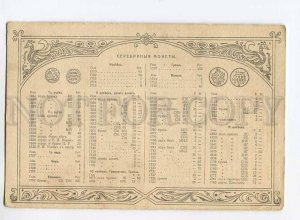 275877 ADVERTISING Price list RUSSIAN SILVER COINS vintage PC