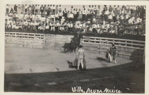 RP; VILLA ACUNA, Mexico, 1910-20s; Bull Fighting
