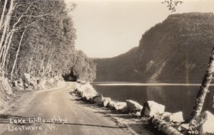 RP: WESTMORE , Vermont , 1910-20s ; Road alongside Lake Willoughby