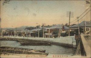 Nagasaki Japan Bund of Ohura c1910 Postcard Manila Cancel