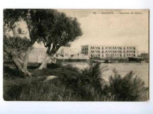 173891 TUNISIA BIZERTE Barracks Genie Vintage postcard