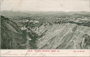 Waihi Mine NZ New Zealand Mining Shafts Muir & Moodie c1907 Postcard E69