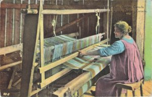 Weaving The Yarn Quebec Canada Series Post Card & Greeting Co Toronto Postcard