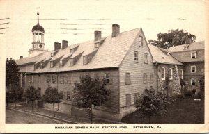 Pennsylvania Bethlehem Moravian Gemein Haus 1934
