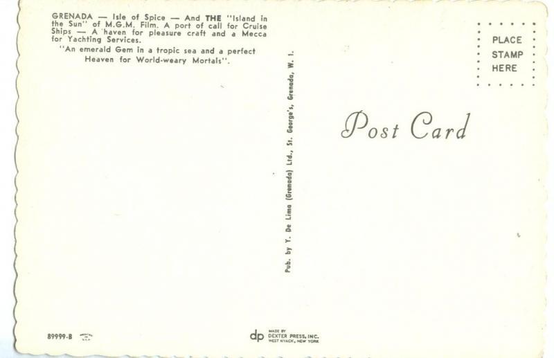 GRENADA, The Isle of Spice, unused Postcard