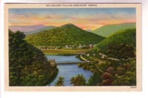 Balcony Water Falls, James River, Virginia, Asheville Post Card Co