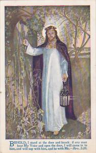 Jesus Christ standing at door with lantern, Revelation 3:20, Whitney Opera Ho...