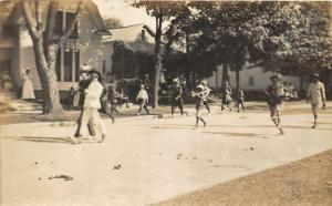 F15/ Parade Real Photo RPPC Postcard c1910 Baseball Kids Team 4