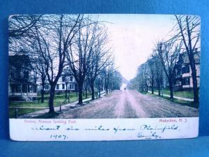 Postcard NJ Metuchen 1907 View of Amoby Avenue Looking East Dirt Street
