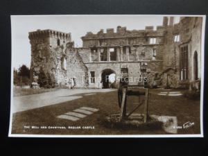 Wales RAGLAN CASTLE Well & Courtyard - Old RP Postcard by W. Scott R559
