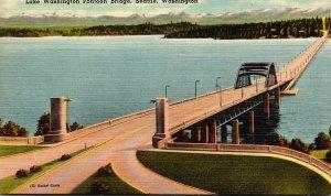 Washimgton Seattle Lake Washington Pontoon Bridge