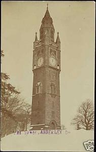 worcestershire, ABBERLEY, The Clock Tower (1910s) RPPC