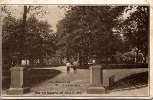 Maryland Baltimore Harlem Square 1911
