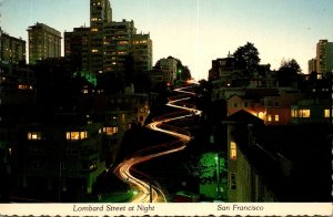 California San Francisco Lombard Street At Night