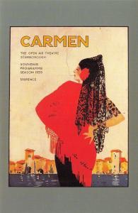 Nostalgia Postcard Carmen, 1935 Scarborough Open Air Theatre Program Cover NS19