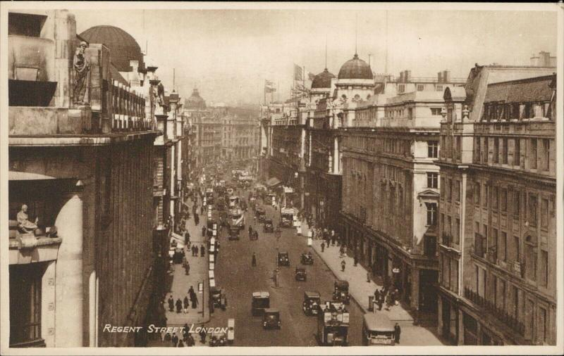 Regent Street London real Photogravure Philco