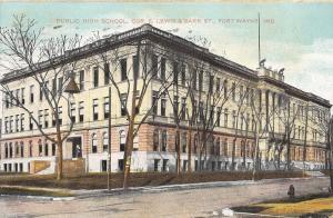 Fort Wayne Indiana~High School~Corner E Lewis & Barr Sts~Hanging Light~1907
