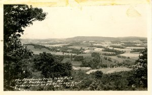MD - Backbone Mountain, US Hwy 50. View of Allegheny Mts.    RPPC