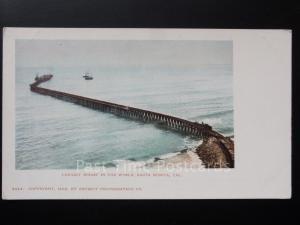 USA: California, Santa Monica The Longest Wharf in the World c1902 UB