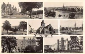 Perth Scotland scenic views landmarks real photo pc Z13036