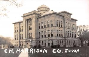 Harrison Iowa Court House Real Photo Antique Postcard K31304