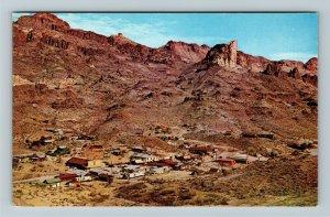 Oatman AZ- Arizona, Ghost Town, Movie Set, Rocky Desert Scenery, Chrome Postcard