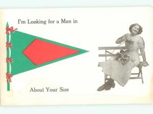 Divided-Back PRETTY WOMAN Risque Interest Postcard AA7779