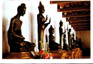 Thailand Bangkok Images Of Lord Buddha In Various Postures In Wat Benchamabop...