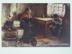 Scottish Life & Character HER DOCHTERS BAIRN c1907 Postcard by Raphael Tuck 9272