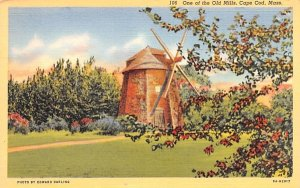 One of the Old Mills Orleans, Massachusetts Postcard