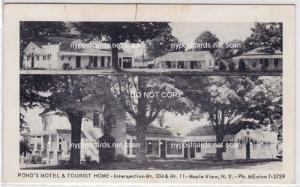 Pond's Motel & Tourist Home, Maple View NY