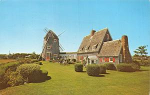 Vintage Postcard Cape Cod House and Windmill, West Harwich, Massachusetts #510