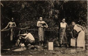 CPA Groet uit BUITENZORG No. 76. By den Waterbron INDONESIA (565950)