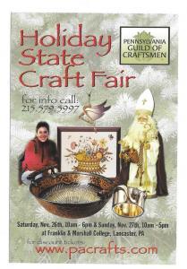 Holiday State Craft Fair Modern Advertising Postcard PA