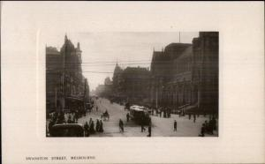 Melbourne Australia Swanston Street c1910 Real Photo Postcard