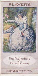 Player Vintage Cigarette Card Bygone Beauties 1914 Mrs Fitzherbert