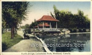 Montreal Canada, du Canada Rustic Bridge, Lafontaine Park  Rustic Bridge, Laf...