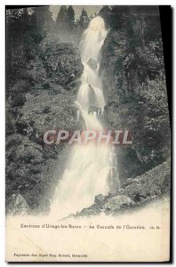 Old Postcard Environs d & # 39Uriage les Bains The cascade of & # 39Oursiere