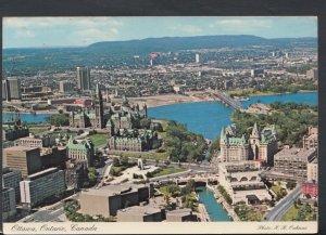 Canada Postcard - Aerial View of Ottawa, Ontario    RR3909