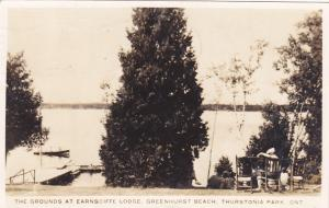 RP: Grounds, Earnscliffe Lodge, Greenhurst Beach, THURSTONIA PARK , Ontario , Ca
