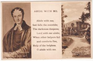 Postcard Poetry Abide with Me