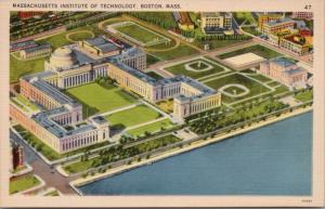 Massachusetts Institute of Technology Boston MA MIT Unused Linen Postcard D36