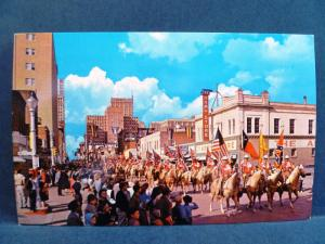 Postcard TX Fort Worth Annual Stock Show Rodeo Parade #2