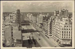 romania, BUCURESTI BUCHAREST, Street Scene (1942) RPPC