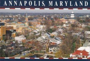 Maryland Annapolis Aerial View Of Downtown