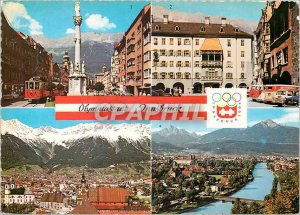 Postcard Modern Olympiastadt Tirol Innsbruck Olympics Tramway