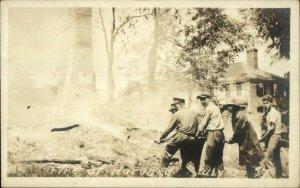 Fire at Harvard July 27 1917 - Mass or Illinois? Real Photo Postcard