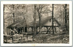 SCOTTDALE PA MENNONITE CAMPGROUND 1947 VINTAGE REAL PHOTO POSTCARD RPPC